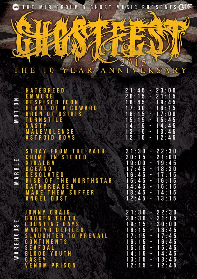 ghostfest line up